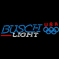 Busch Light Olympic Beer Sign Enseigne Néon