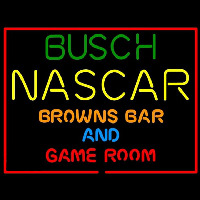 Busch NASCAR Browns Bar and Game Room Enseigne Néon