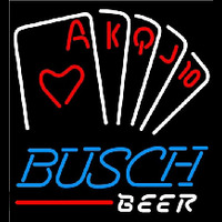 Busch Poker Series Beer Sign Enseigne Néon
