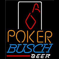 Busch Poker Squver Ace Beer Sign Enseigne Néon