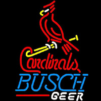 Busch St Louis Cardinals Bat Perch Beer Sign Enseigne Néon