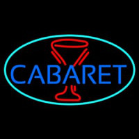 Cabaret With Wine Glass Enseigne Néon