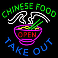 Chinese Food Open Take Out Enseigne Néon
