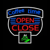 Coffee Time Open Close Enseigne Néon