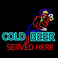 Cold Beer Served Here Real Neon Glass Tube Enseigne Néon