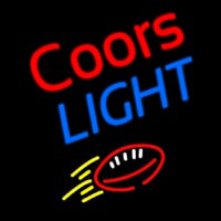 Coors Light Football Beer Enseigne Néon