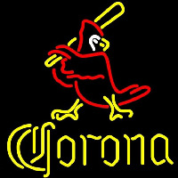 Corona Cardinals Baseball Beer Sign Enseigne Néon