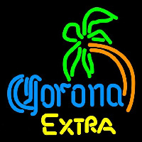 Corona E tra Curved Palm Tree Beer Sign Enseigne Néon