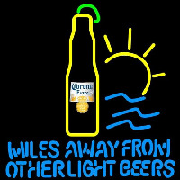 Corona E tra Miles Away From Other Beers Beer Sign Enseigne Néon