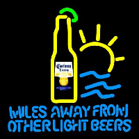 Corona E tra Miles Away From Other s Beer Sign Enseigne Néon