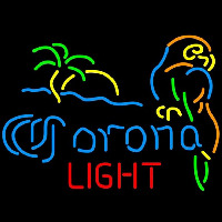 Corona Light Palm Tree Parrot Beer Sign Enseigne Néon