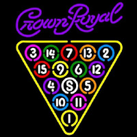 Crown Royal 15 Ball Billiards Pool Beer Sign Enseigne Néon