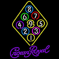 Crown Royal Ball Billiards Rack Pool Beer Sign Enseigne Néon