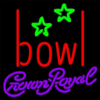 Crown Royal Bowling Alley Beer Sign Enseigne Néon