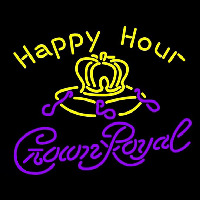 Crown Royal Happy Hour Beer Sign Enseigne Néon