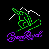 Crown Royal Logo Surfboard Beer Sign Enseigne Néon