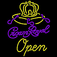 Crown Royal Open Beer Sign Enseigne Néon
