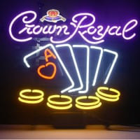 Crown Royal Poker Chips Enseigne Néon