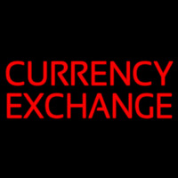 Currency E change Enseigne Néon