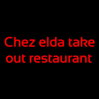 Custom Chez Elda Take Out Restaurant Enseigne Néon