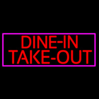 Custom Dine In Take Out Enseigne Néon