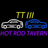 Custom Tt 3 Hot Rod Tavern Car Logo 2 Enseigne Néon