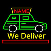 Custom We Deliver Van Enseigne Néon