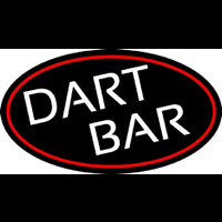 Dart Bar With Oval With Red Border Enseigne Néon