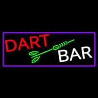 Dart Bar With Purple Border Enseigne Néon