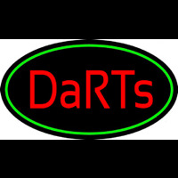 Darts Oval With Green Border Enseigne Néon