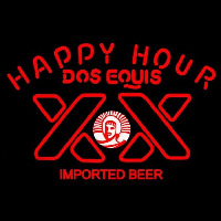 Dos Equis Beer Happy Hour Beer Sign Enseigne Néon
