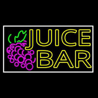 Double Stroke Juice Bar With Grapes Enseigne Néon