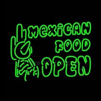 Double Stroke Mexican Food Open Enseigne Néon