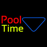 Double Stroke Pool Time With Billiard Enseigne Néon