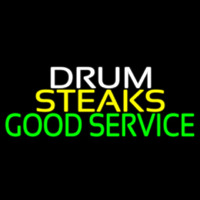 Drum Steaks Good Service Block 1 Enseigne Néon