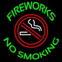 Fire Works No Smoking With Logo Enseigne Néon