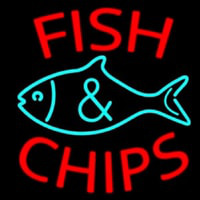Fish Logo Fish And Chips Enseigne Néon