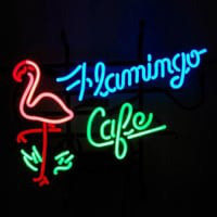 Flamingo Cafe Magasin Enseigne Néon