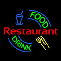 Food And Drink Restaurant Logo Enseigne Néon