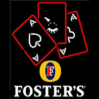 Fosters Ace And Poker Beer Sign Enseigne Néon