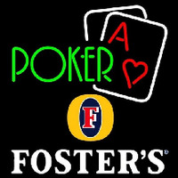 Fosters Green Poker Beer Sign Enseigne Néon