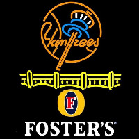 Fosters New York Yankees Beer Sign Enseigne Néon