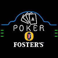 Fosters Poker Ace Cards Beer Sign Enseigne Néon