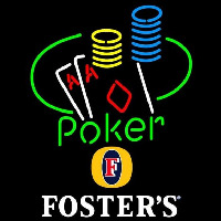 Fosters Poker Ace Coin Table Beer Sign Enseigne Néon