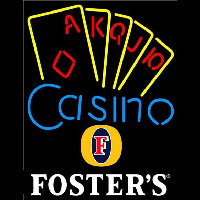 Fosters Poker Casino Ace Series Beer Sign Enseigne Néon