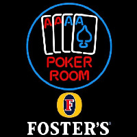 Fosters Poker Room Beer Sign Enseigne Néon
