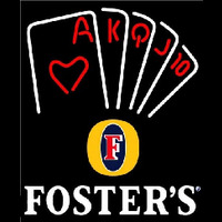 Fosters Poker Series Beer Sign Enseigne Néon