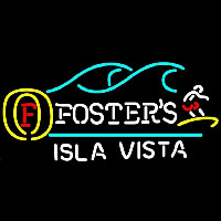 Fosters Surfer Isla Vista Beer Sign Enseigne Néon