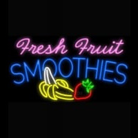 Fresh Fruit Smoothies Logo Enseigne Néon