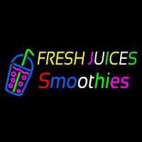 Fresh Juices Smoothies Enseigne Néon
